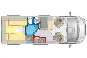 Van L Grundriss - Reisemobile Hartstein - Villingen-Schwenningen